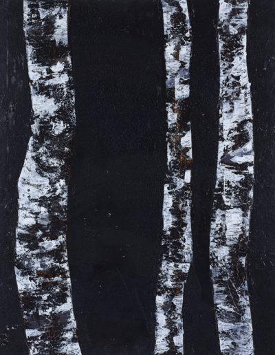 encre, goudron, acrylique | 100x220cm