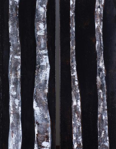 encre, goudron, acrylique | dyptique 2x40x120cm