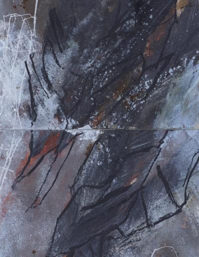 pigments, craies, encres huile | 60x120cm