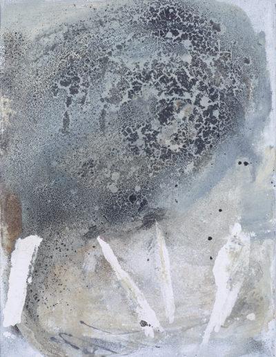 cendres, sable, huile, encre | 40x60cm