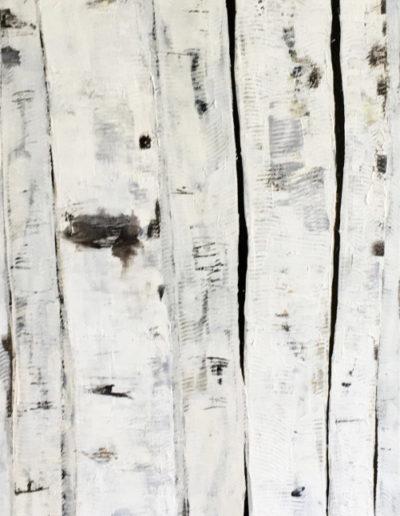 goudron, acrylique | 50x150cm