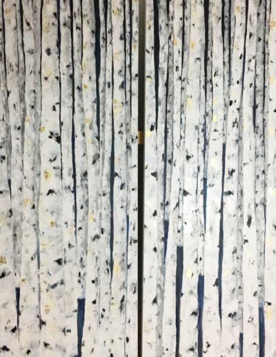 acrylique, feuilles d'or, pigments | dyptique 2x100x200cm